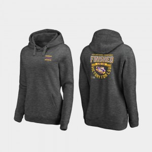 Heather Gray College Hoodie 2019 National Champions Football Playoff Quarter Louisiana State Tigers For Women's