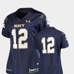 #12 Navy Navy Midshipmen Finished Replica College Jersey Football For Women