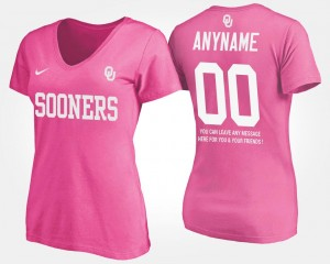 Pink With Message OU #00 Women's College Customized T-Shirt