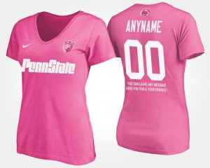 Penn State Nittany Lions College Custom T-Shirts #00 Pink Women's With Message