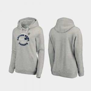 2019 Cotton Bowl Champions Heather Gray For Women College Hoodie Curl Logo Penn State Nittany Lions