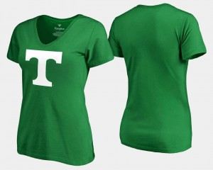 Tennessee Kelly Green White Logo St. Patrick's Day College T-Shirt Women