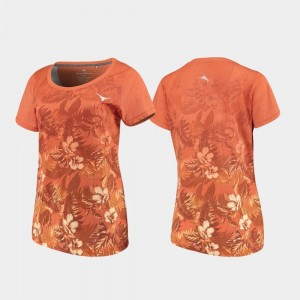 Floral Victory Longhorns For Women Tommy Bahama Texas Orange College T-Shirt