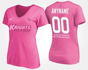 #00 College Customized T-Shirt Knights Pink Women's With Message