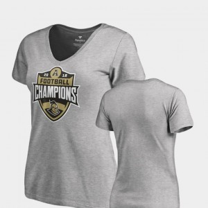 V-Neck Heather Gray College T-Shirt 2018 AAC Football Champions Womens Knights