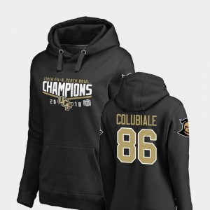 Women 2018 Peach Bowl Champions #86 Goal Michael Colubiale College Hoodie Black UCF Knights
