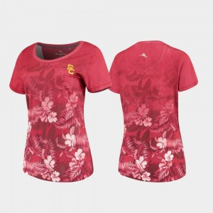 Tommy Bahama Floral Victory College T-Shirt USC Cardinal Women