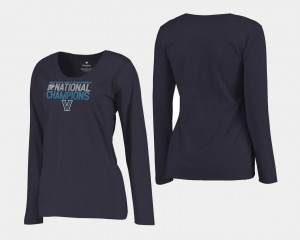2018 Dribble Long Sleeve For Women's Basketball National Champions Navy College T-Shirt Wildcats