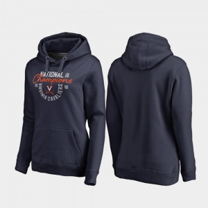 2019 NCAA Basketball National Champions Jump Pullover College Hoodie Navy 2019 Men's Basketball Champions Womens Virginia Cavaliers