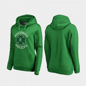 College Hoodie For Women Luck Tradition Badgers St. Patrick's Day Kelly Green