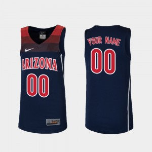 For Kids #00 Basketball Navy U of A College Customized Jerseys Replica