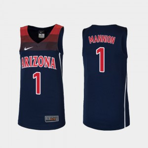 Basketball For Kids Wildcats Replica Navy #1 Nico Mannion College Jersey
