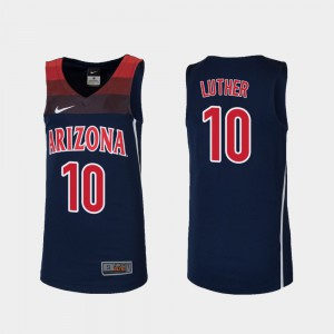 Basketball For Kids Ryan Luther College Jersey #10 Arizona Wildcats Navy Replica