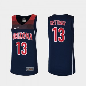Basketball Stone Gettings College Jersey For Kids U of A Replica #13 Navy