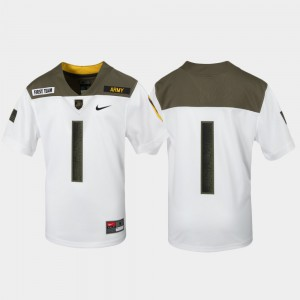 Army Black Knights College Jersey #1 White Youth(Kids) 1st Cavalry Division Limited Edition Replica
