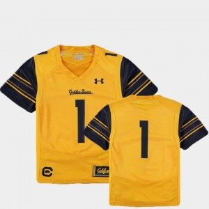 #1 Gold California Berkeley Youth Football Finished Replica College Jersey