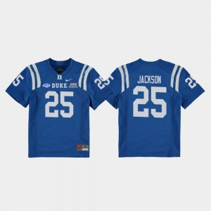 #25 Football Game Deon Jackson College Jersey Royal 2018 Independence Bowl Youth Duke