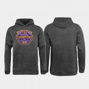 College Hoodie Football Playoff Encroachment Youth(Kids) Heather Gray 2019 National Champions LSU Tigers