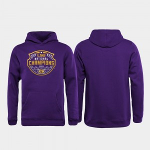 Football Playoff Official Logo 2019 National Champions College Hoodie LSU Tigers Purple Youth