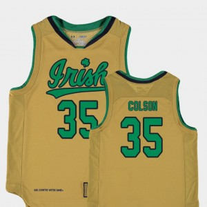 Gold Basketball Special Games #35 Youth(Kids) Replica UND Bonzie Colson College Jersey