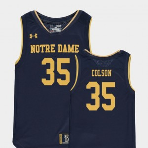 Basketball Special Games #35 Navy Replica Bonzie Colson College Jersey Notre Dame Kids