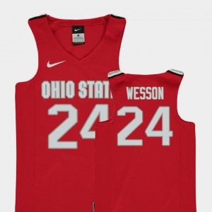 Red Replica OSU Youth(Kids) Andre Wesson College Jersey #24 Basketball
