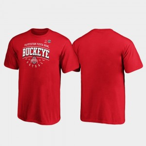 Tackle College T-Shirt Ohio State Scarlet 2019 Fiesta Bowl Bound For Kids