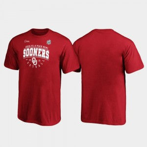 College T-Shirt 2019 Peach Bowl Bound For Kids Sooners Crimson Tackle