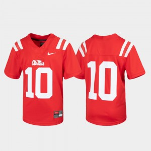 Ole Miss Youth(Kids) Untouchable Football College Jersey Red #10
