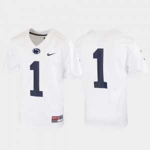 Football White College Jersey Kids Nittany Lions #1 Untouchable