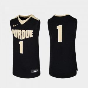 College Jersey Purdue Black #1 Basketball Replica Youth