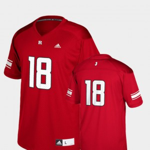 Scarlet Football Scarlet Knights #18 College Jersey For Kids Replica