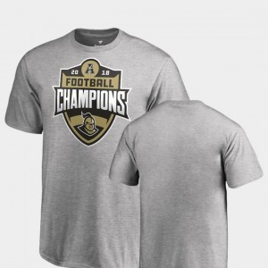 College T-Shirt UCF Knights 2018 AAC Football Champions Youth(Kids) Big & Tall Heather Gray