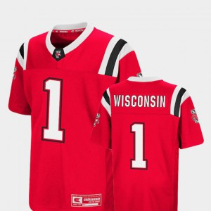 Wisconsin College Jersey Foos-Ball Football #1 Colosseum Red Kids
