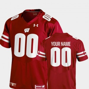 #00 Football College Customized Jerseys 2018 Replica Youth Red Badger